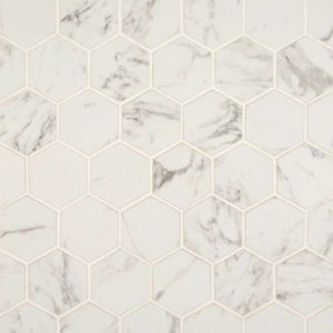 "PIETRA - CARRARA 2"" HEXAGON MATTE"