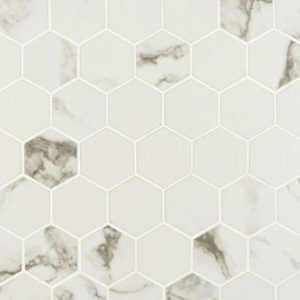"PIETRA - STATUARIO 2"" HEXAGON MATTE"